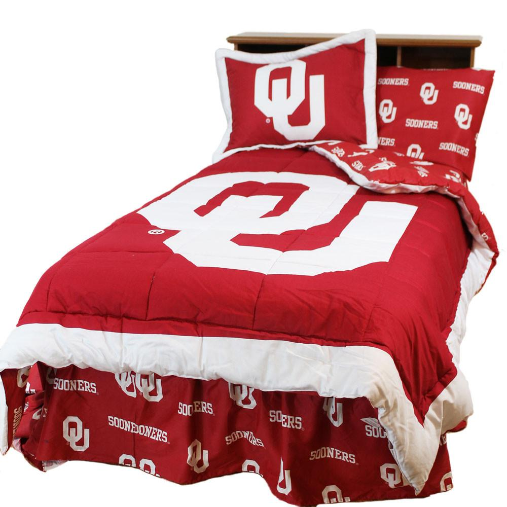 Oklahoma Reversible Comforter Set - Queen - OKLCMQU by College Covers from College Covers
