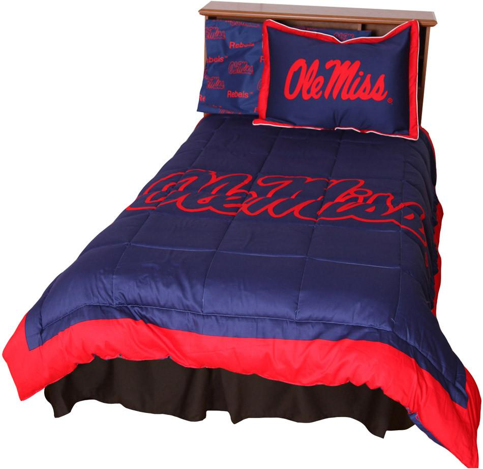 Ole Miss Reversible Comforter Set -Full - MISCMFL by College Covers from College Covers