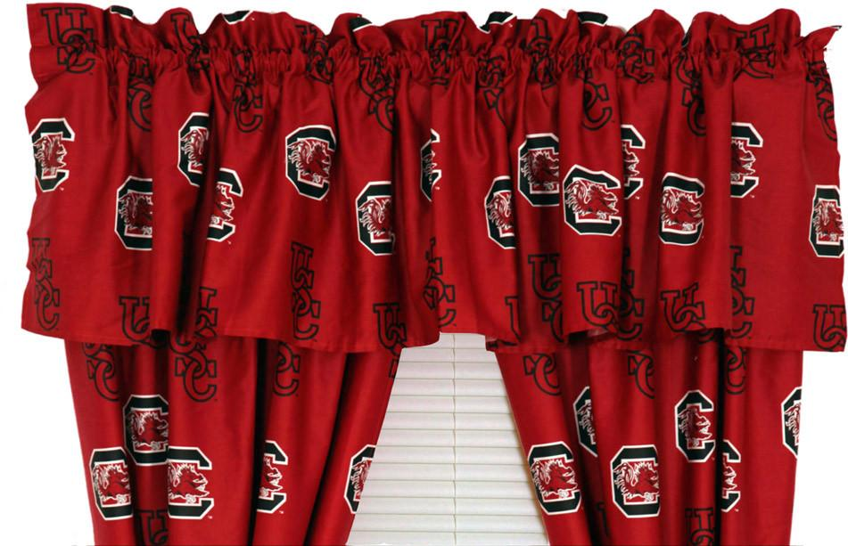 South Carolina Printed Curtain Valance - 84 x 15 - SCUCVL by College Covers from College Covers