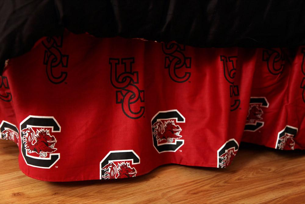 South Carolina Printed Dust Ruffle King - SCUDRKG by College Covers from College Covers