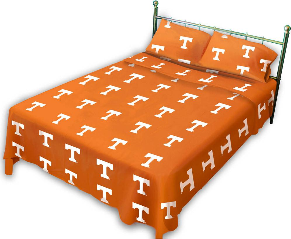 Tennessee Printed Sheet Set Queen - Solid - TENSSQU by College Covers from College Covers