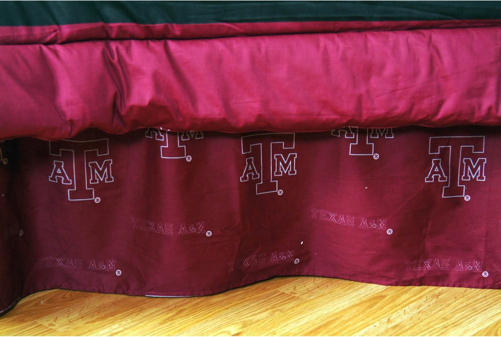 Texas A&M Printed Dust Ruffle Twin - TAMDRTW by College Covers from College Covers