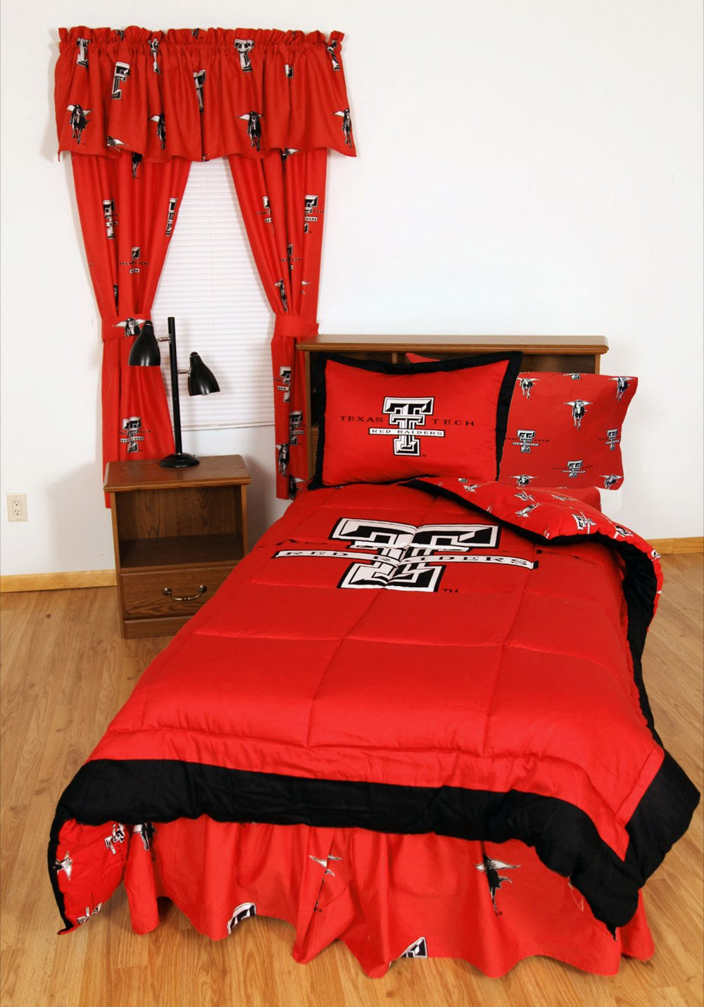 Texas Tech Bed in a Bag Queen - With Team Colored Sheets - TTUBBQU by College Covers from College Covers