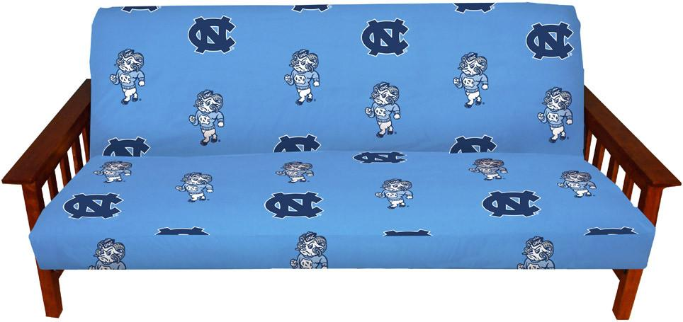 UNC Futon Cover - Full Size fits 8 and 10 inch mats - NCUFC by College Covers from College Covers