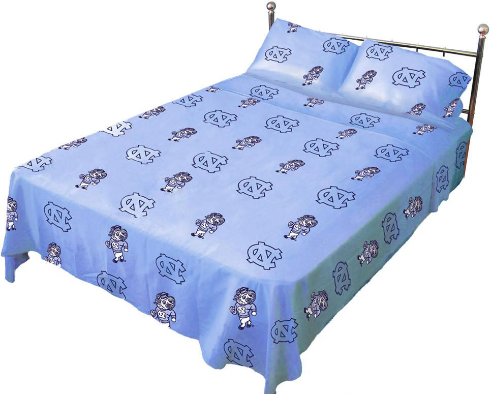UNC Printed Sheet Set Queen - Solid - NCUSSQU by College Covers from College Covers