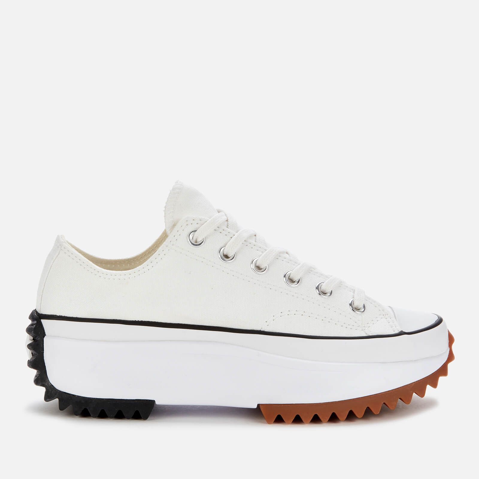 Converse Run Star Hike Ox Trainers - White/Black/Gum - UK 8 from Converse