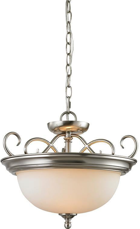 Cornerstone 1102CS/20 Chatham 2 Light Convertible In Brushed Nickel from Cornerstone