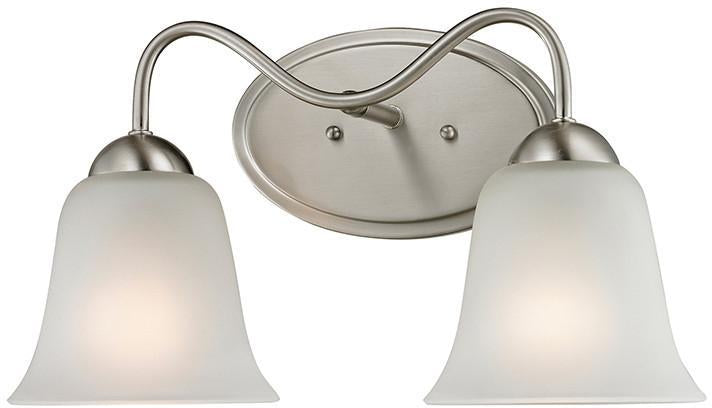 Cornerstone 1202BB/20 Conway 2 Light Bath Bar In Brushed Nickel from Cornerstone