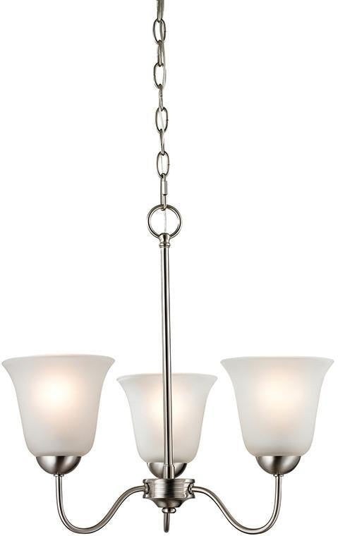 Cornerstone 1203CH/20 Conway 3 Light Chandelier In Brushed Nickel from Cornerstone