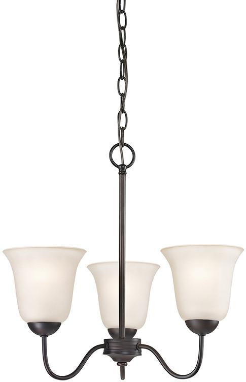 Cornerstone 1253CH/10 Conway 3 Light Chandelier In Oil Rubbed Bronze from Cornerstone