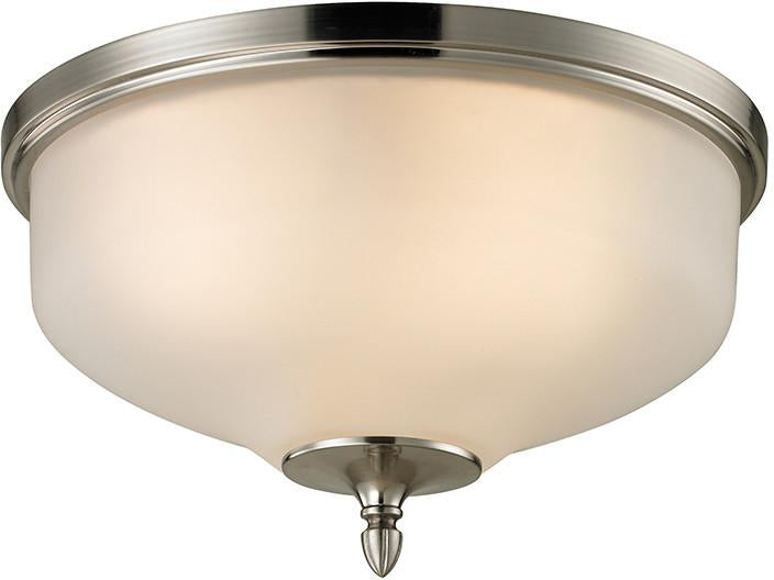 Cornerstone 1303FM/20 Jackson 2 Light Flush Mount In Brushed Nickel from Cornerstone