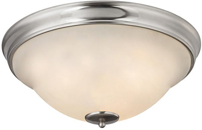 Cornerstone 2303FM/20 Hamilton 3 Light Flush Mount In Brushed Nickel from Cornerstone