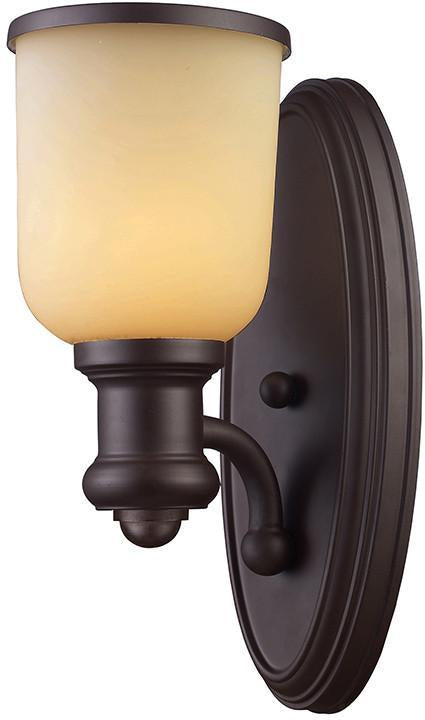 Cornerstone 2701WS/16 Brooksdale 1 Light Sconce In Oil Bronze from Cornerstone