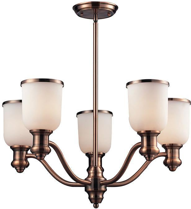 Cornerstone 2705CH/19 Brooksdale 5 Light Chandelier In Antique Copper from Cornerstone