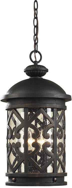 Cornerstone 7203EH/71 Tuscany Coast 3 Light Exterior Hanging Lamp In Weathered Charcoal from Cornerstone