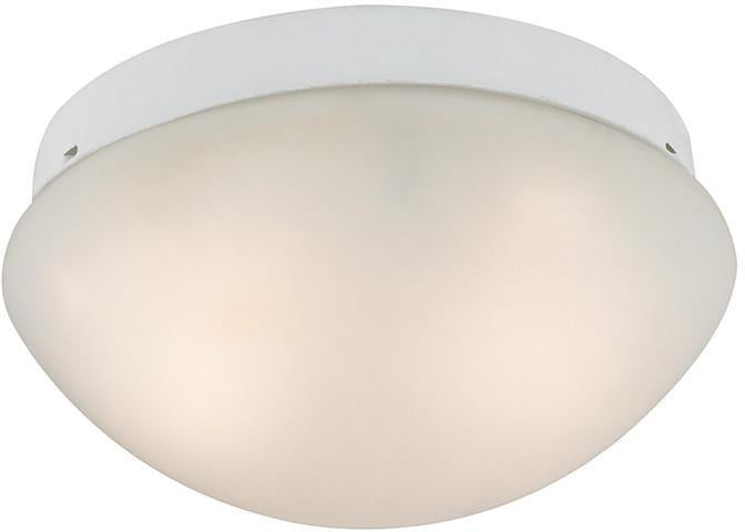 Cornerstone 7352FM/40 2 Light Mushroom Flushmount In White from Cornerstone