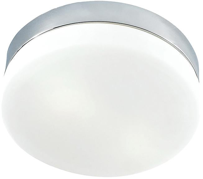 Cornerstone 7801FM/40-LED 1 Light Flush Mount In Chrome And White Glass from Cornerstone