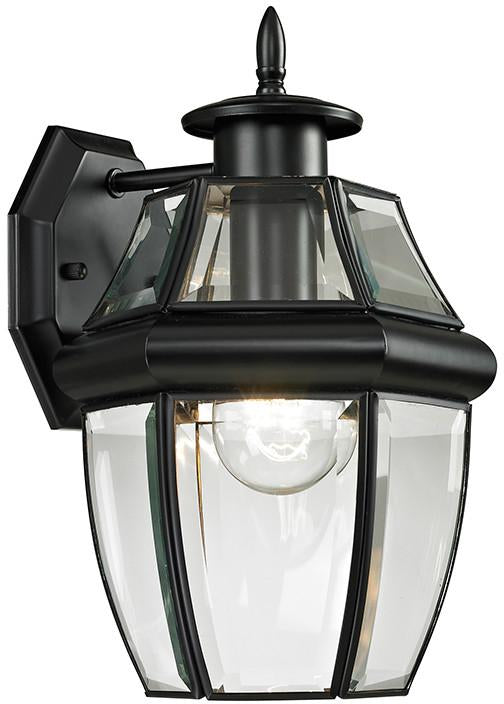 Cornerstone 8601EW/60 Ashford 1 Light Exterior Coach Lantern In Black from Cornerstone