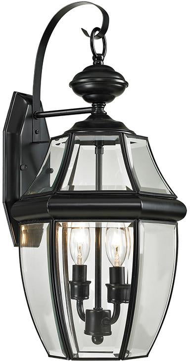 Cornerstone 8602EW/60 Ashford 2 Light Exterior Coach Lantern In Black from Cornerstone