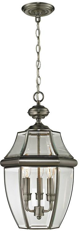 Cornerstone 8603EH/80 Ashford 3 Light Exterior Hanging Lantern In Antique Nickel from Cornerstone