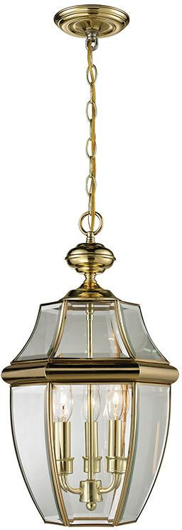 Cornerstone 8603EH/85 Ashford 3 Light Exterior Hanging Lantern In Antique Brass from Cornerstone