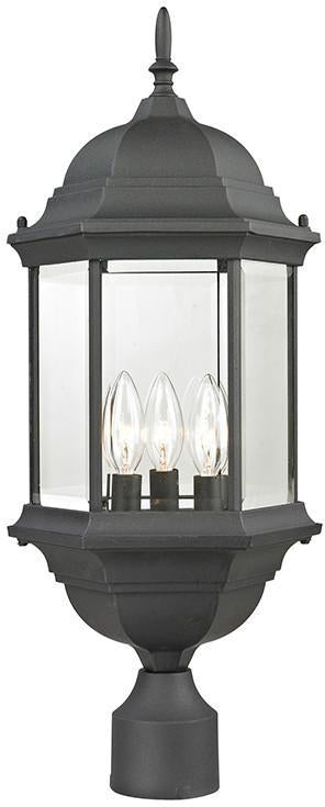 Cornerstone 8603EP/65 Spring Lake 3 Light Exterior Post Lantern In Matte Textured Black from Cornerstone