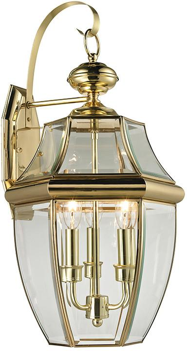 Cornerstone 8603EW/85 Ashford 3 Light Exterior Coach Lantern In Antique Brass from Cornerstone