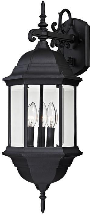 Cornerstone 8613EW/65 Spring Lake 3 Light Exterior Wall Lamp In Matte Black from Cornerstone