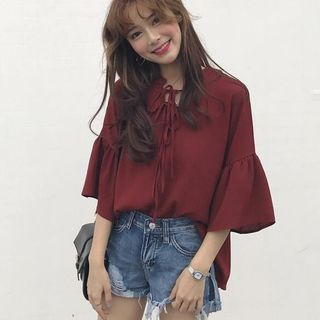 Tie-Neck Blouse from CosmoCorner