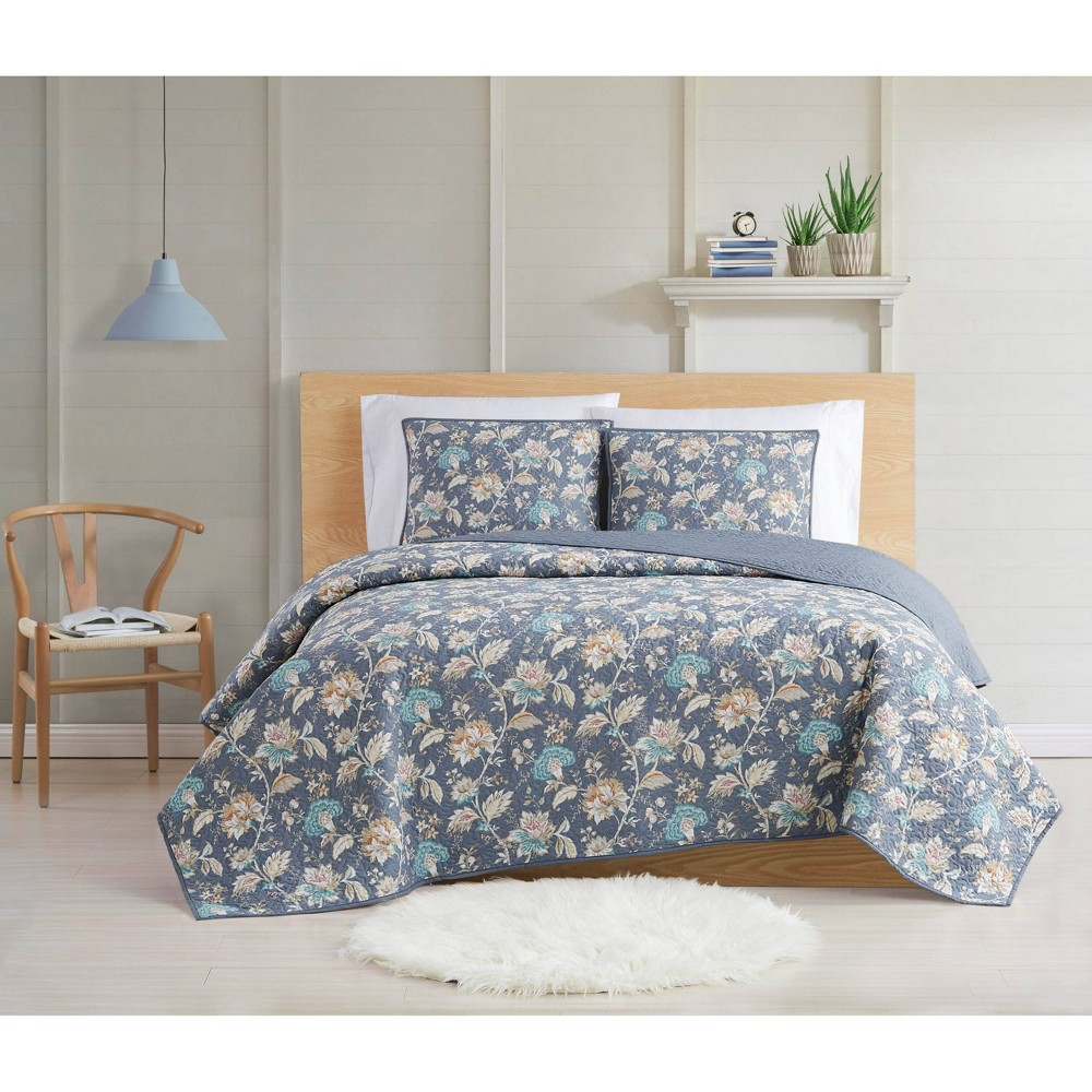 Full/Queen 3pc Florence Quilt Set - Cottage Classics from Cottage Classics
