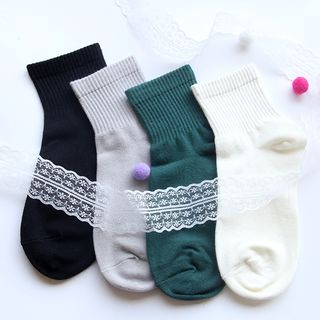 Plain Crew Socks from Cottonet