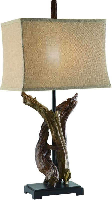 Crestview Collection CVASP487 Twisted Drift Wood Lamp 10.5/16 X 11.5/17 X 12 from Crestview Collection