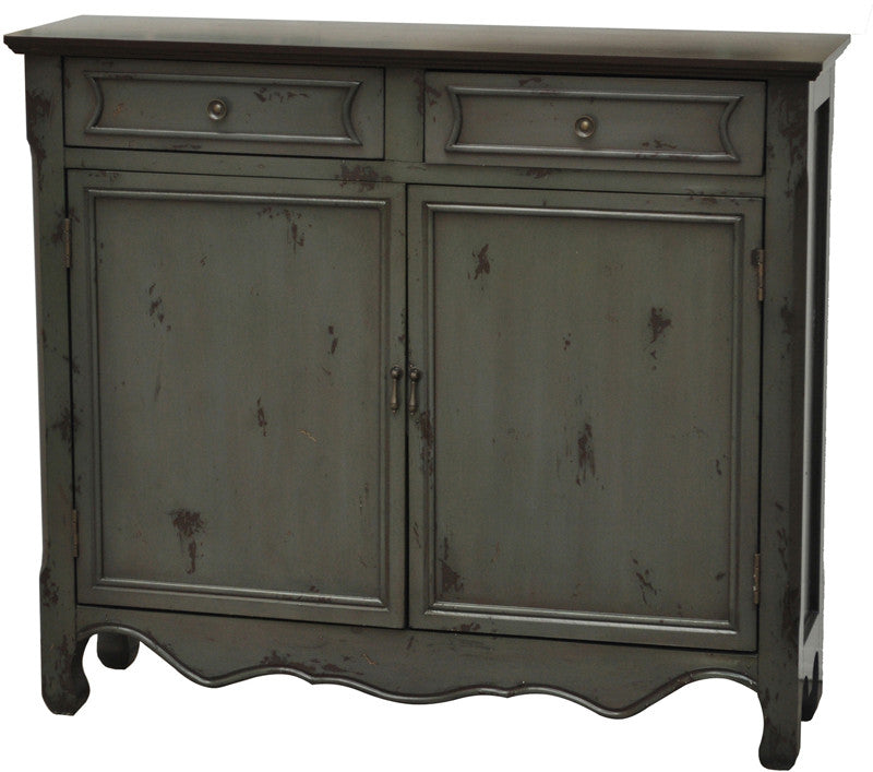 Crestview Collection CVFZR737 Greystone 2 Door 2 Drawer Cupboard 41 X 11 X 36 from Crestview Collection