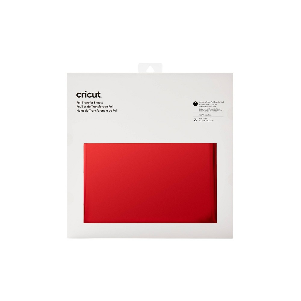 "Cricut 8ct 12""x12"" Foil Transfer Sheets - Red from Cricut"