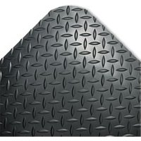 Industrial Deck Plate Anti-Fatigue Mat, Vinyl, 36 x 60, Black from Crown