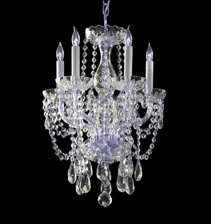 Crystorama 1129-CH-CL-S Traditional Crystal 5 Light Elements Crystal Mini Chandelier from Crystorama