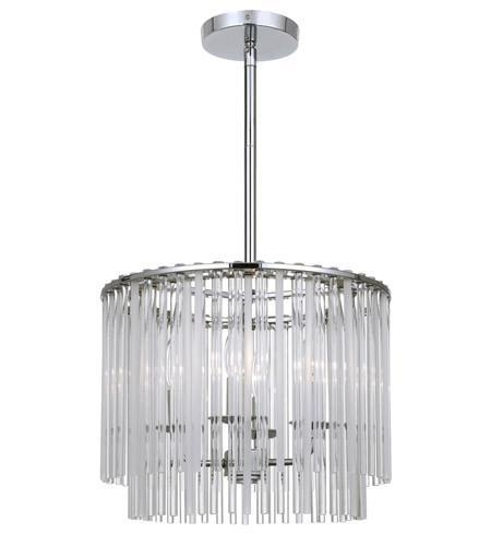 Crystorama 394-CH Bleecker 4 Light Polished Chrome Chandelier from Crystorama