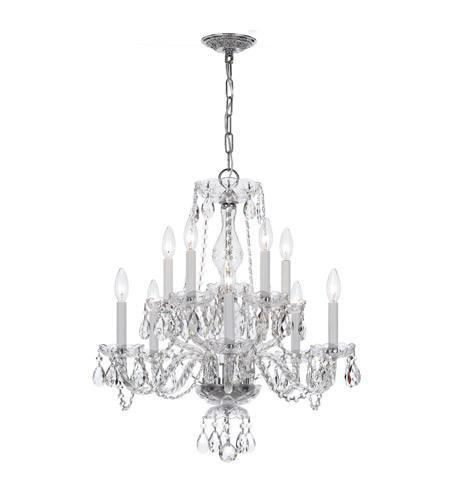 Crystorama 5080-CH-CL-MWP Traditional Crystal 10 Light Clear Crystal Chrome Chandelier V from Crystorama