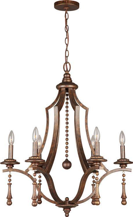 Crystorama 9356-EB Parson 6 Light Bronze Chandelier from Crystorama