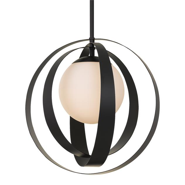 Crystorama Arlo 1 Light Matte Black Chandelier from Crystorama