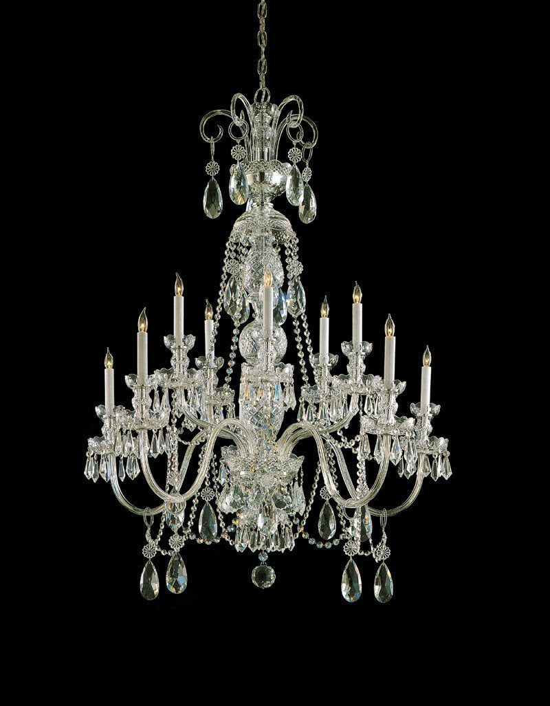 Crystorama Clear Hand Cut Crystal Chandelier 5 Lights - Polished Brass - 5020-PB-CL-MWP from Crystorama