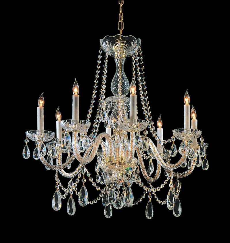 Crystorama Hand Cut Crystal Chandelier 8 Lights - Polished Brass - 1128-PB-CL-MWP from Crystorama