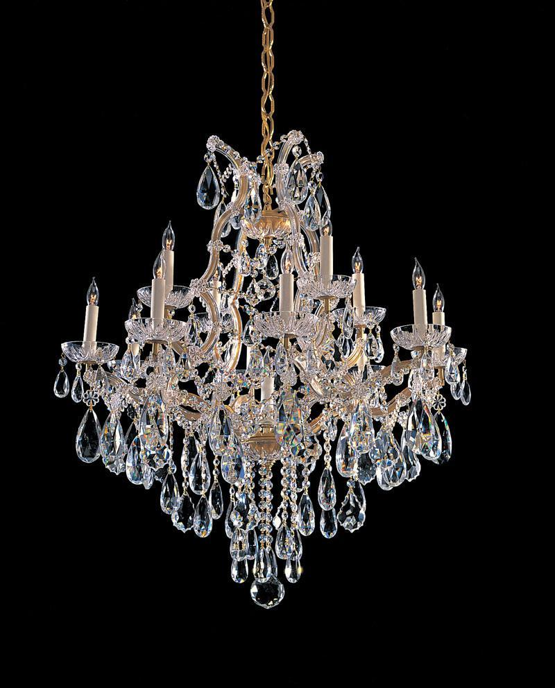Crystorama Maria Theresa Chandelier Draped in Swarovski Elements Crystal 12 Lights - Gold - 4413-GD-CL-S from Crystorama