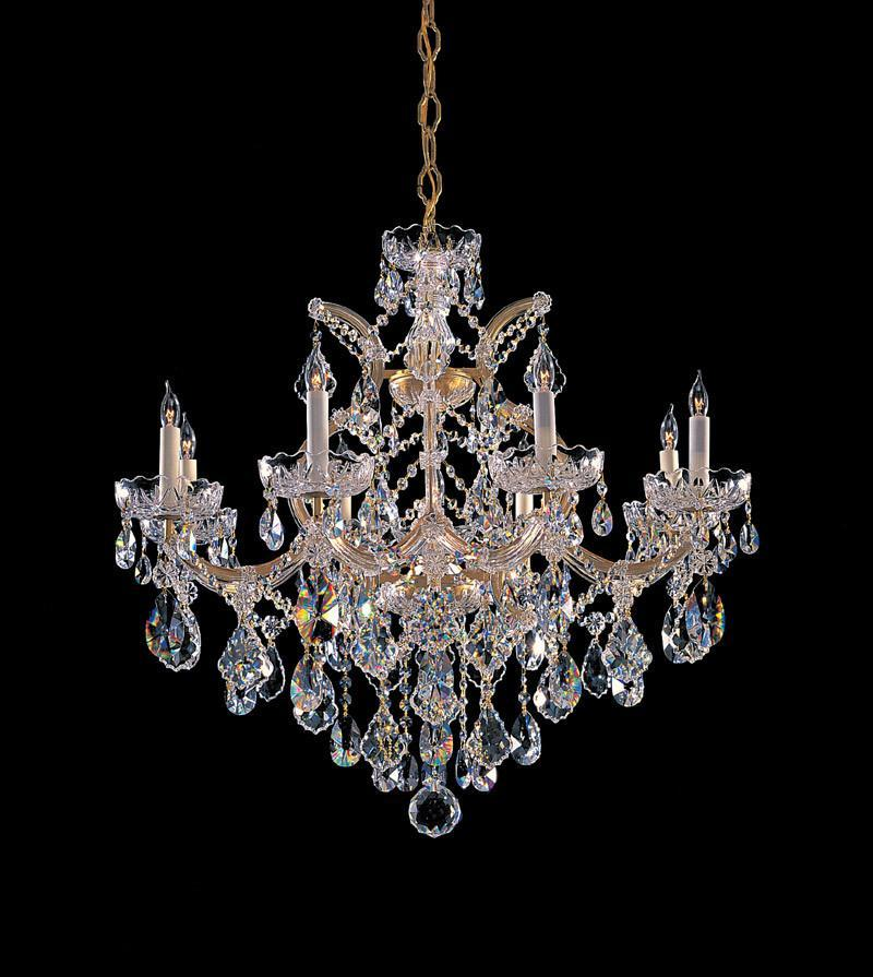 Crystorama Maria Theresa Chandelier Draped in Swarovski Spectra Crystal 8 Lights - Gold - 4409-GD-CL-SAQ from Crystorama