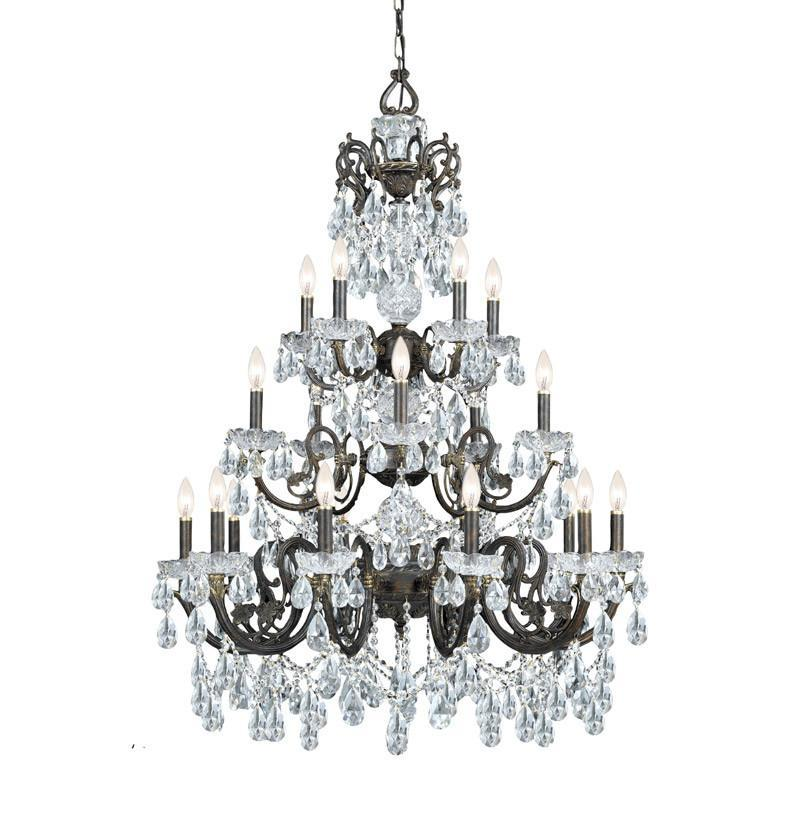 Crystorama Ornate Chandelier Accented with Swarovski Spectra Crystal 10 Lights - English Bronze - 5190-EB-CL-SAQ from Crystorama