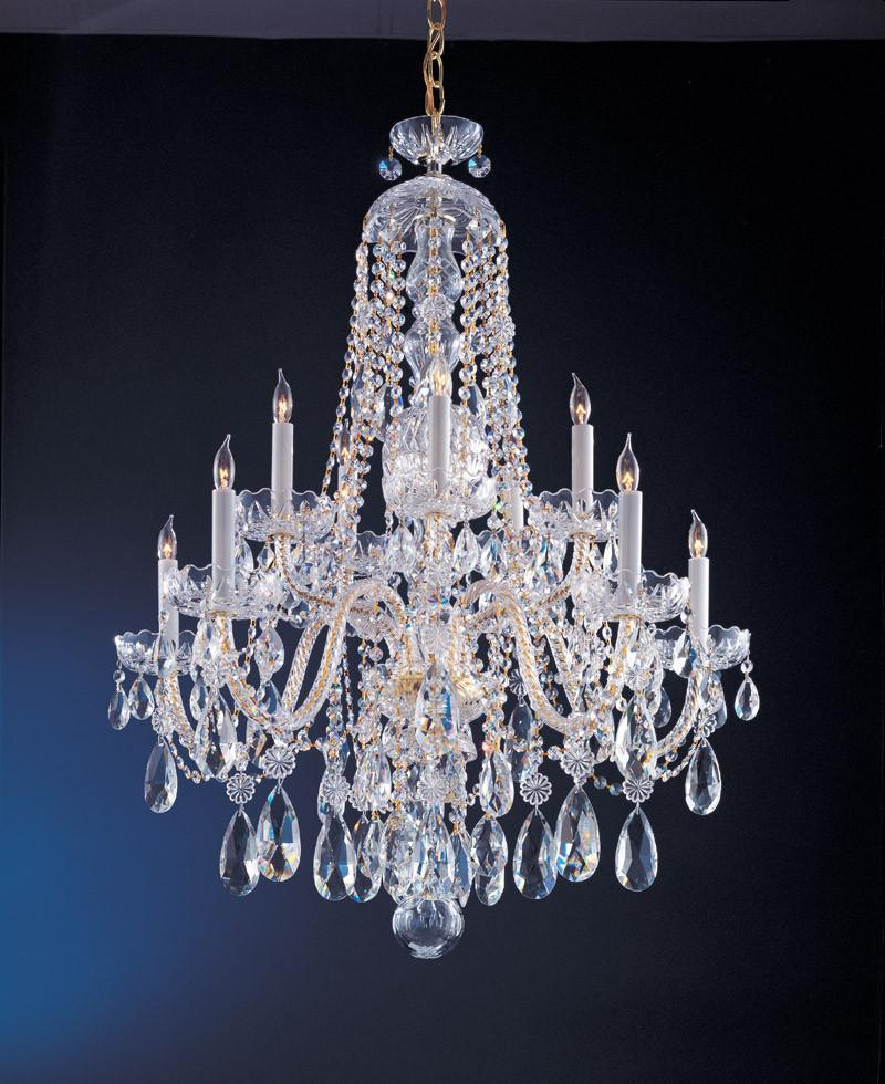 Crystorama Swarovski Elements Crystal Chandelier 5 Lights - Polished Brass - 1110-PB-CL-S from Crystorama