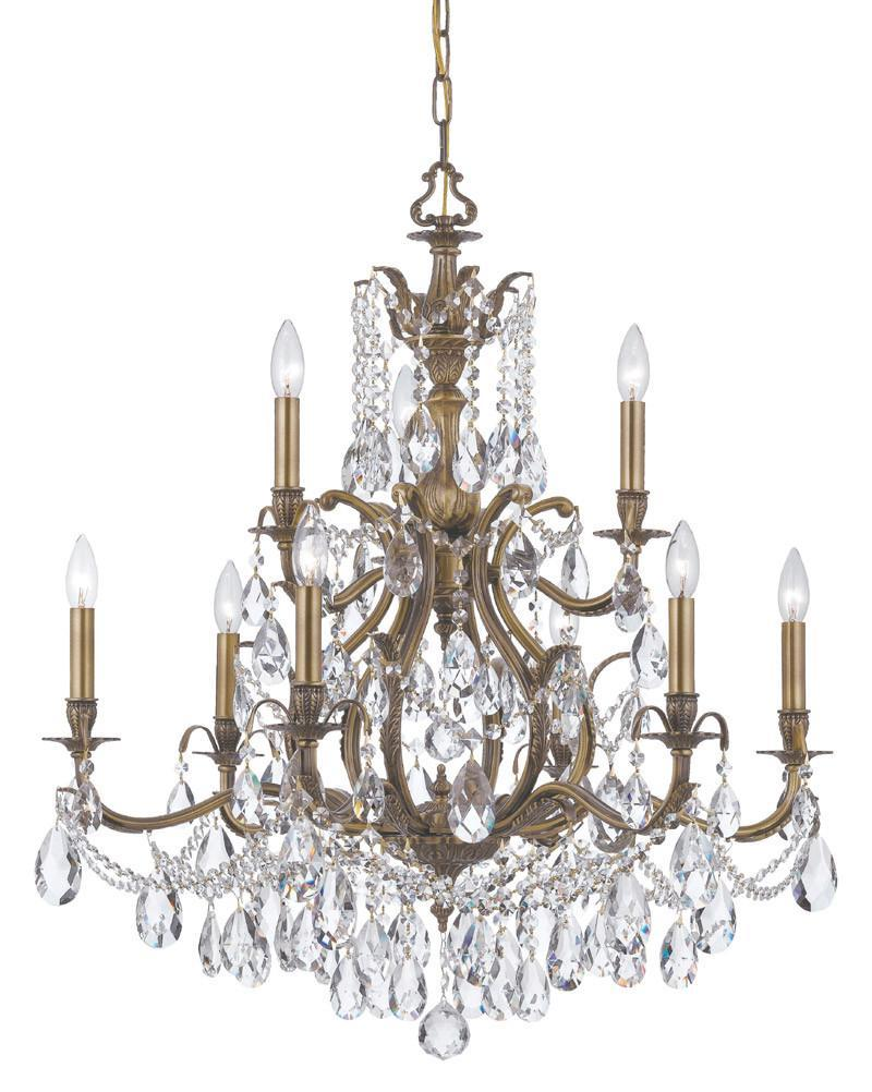 Crystorama Swarovski Spectra Chandelier 6 Lights - Antique Brass - 5579-AB-CL-SAQ from Crystorama
