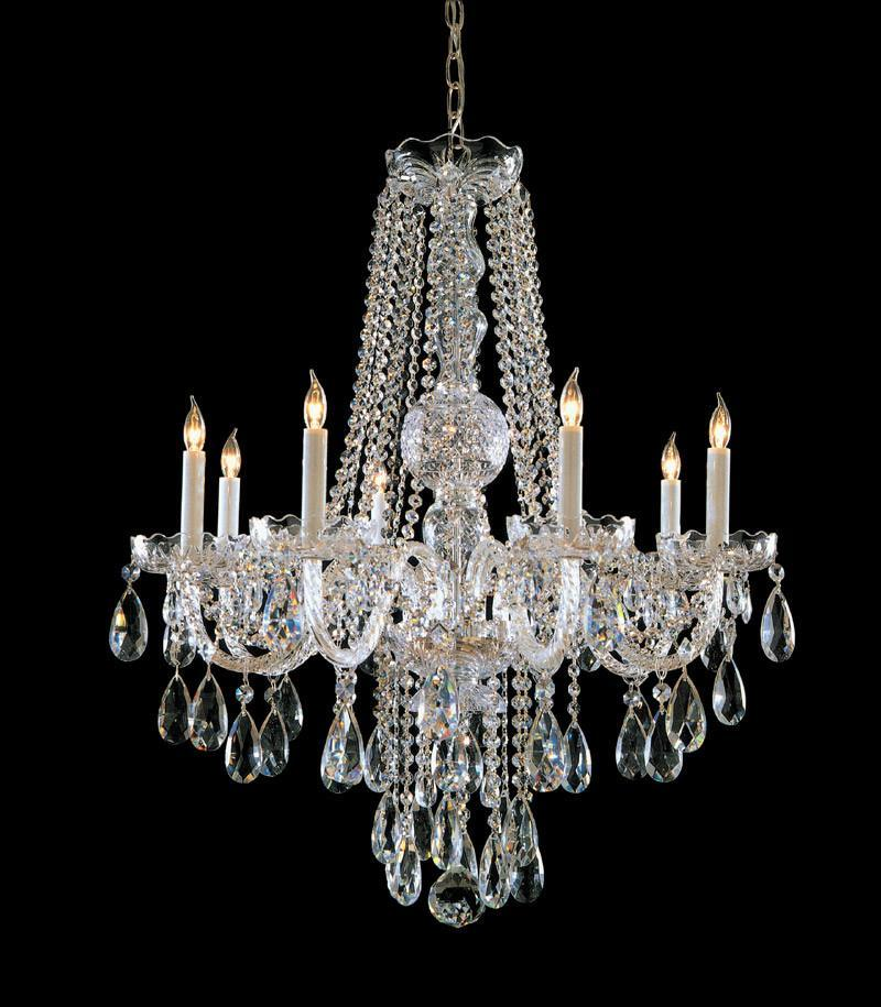 Crystorama Swarovski Spectra Crystal Chandelier 8 Lights - Polished Chrome - 1108-CH-CL-SAQ from Crystorama