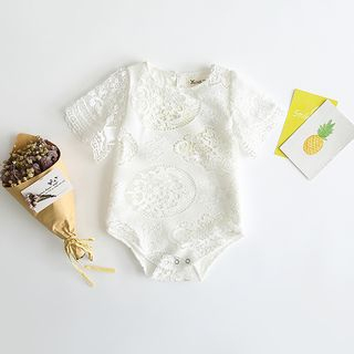Baby Short-Sleeve Lace Bodysuit from Cuckoo