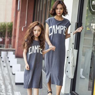 Family Matching Sleeveless Lettering Midi Dress from Cuckoo